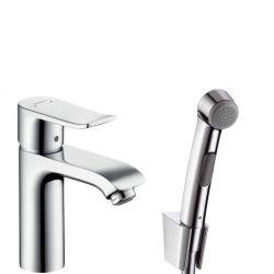 Смеситель для раковины с гигиеническим душем Hansgrohe Metris 110